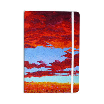 "Jeff Ferst ""Spring Sunset Over Wildflowers"" Red Blue Everything Notebook"
