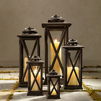 Avignon Square Lanterns – Weathered Bronze