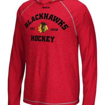 Reebok Men's Chicago Blackhawks New Traditions Lightweight Hoodie