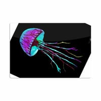 "Ivan Joh ""Night Of Jellyfish"" Black Purple Aluminum Artistic Magnet"