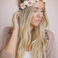 Blushing Flower Crown