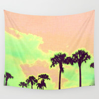 On Sunset Wall Tapestry by Bunhugger Design
