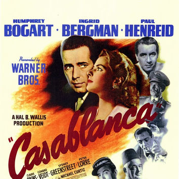 Casablanca 27x40 Movie Poster (1942)