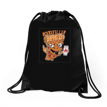 pizzaa monster Drawstring Bags