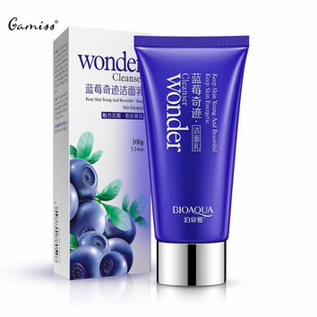 Hot Skin Care Blueberry Miracle Cleaning Whitening Acne Pores and Oil Control Cleanser