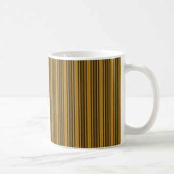 Orange and Black Stripes Coffee Mug
