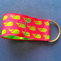 Whale Key Fob (available with or without embroidery)