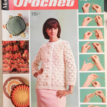McCall s Crochet with Lessons For Beginners / Book 2 / 1970 / Turtle pattern / Retro Step by Step Crochet Lesson
