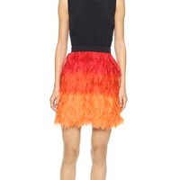 Victoria Victoria Beckham Frayed Skirt Mini Dress