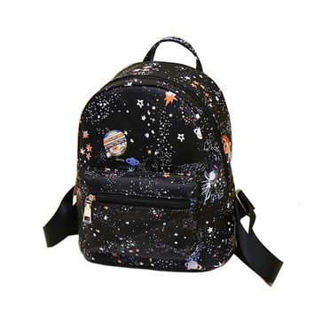 School Backpacks for kids for college Girls Small Leather bag