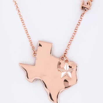 Rose Gold Texas Necklace Set