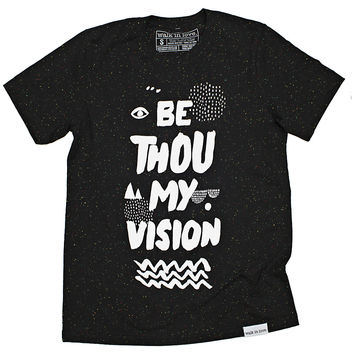 Be Thou My Vision Black Speckled T-Shirt