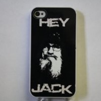 (815wi5) HEY JACK Apple iPhone 5 White Case - Duck Dynasty Si Robertson
