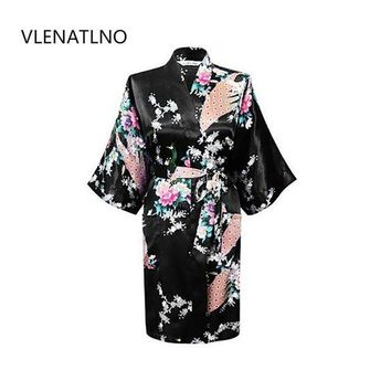 ONETOW 2015 Silk Kimono Robe Bathrobe Women Satin Robe Robe Longue Femme For Women Night Sexy Robes Night Grow For Bridesmaid Summer