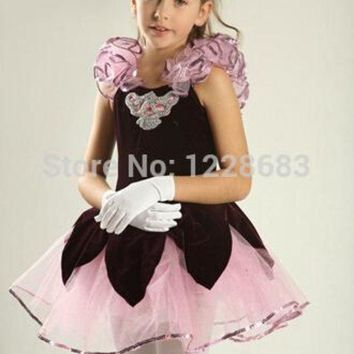 LMF78W Dance Wear Girl Party Dress Tutu Dress Toddler Ballet Clothes Ballerina Dress Kids Tutus For Teens