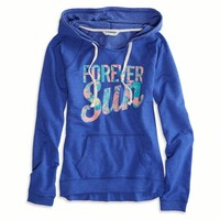 AEO Women's Graphic Hooded Popover