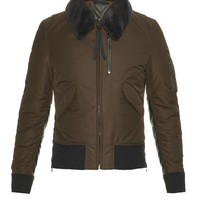 Shearling-collar bomber jacket | Lanvin | MATCHESFASHION.COM US