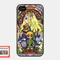 Iphone 4 4s case the legend of zelda stained glass iphone 4 4s case