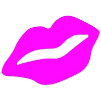 Pink Lips Tanning Stickers 50 Pack