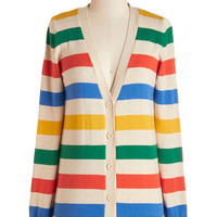 ModCloth Long Sleeve Rainbow with the Flow Cardigan