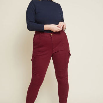 The Portland Pant in Burgundy