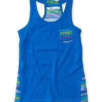 PS from Aero Girls Sheer Back Hi-Lo Tank Top -