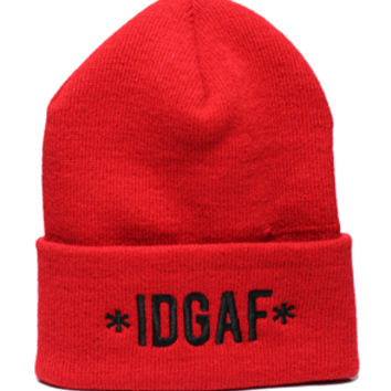 1st Class IDGAFI dont give a fck Beanie Red