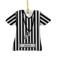 Referee & Whistle Christmas Ornament from Zazzle.com