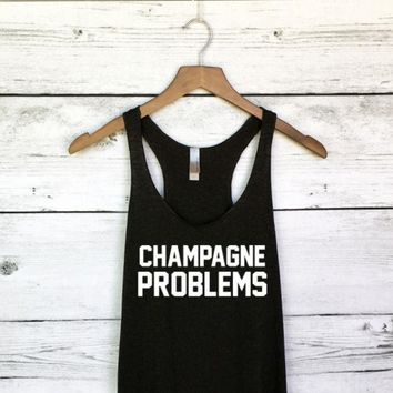 ac NOVQ2A Champagne Problems Tank Top for Women