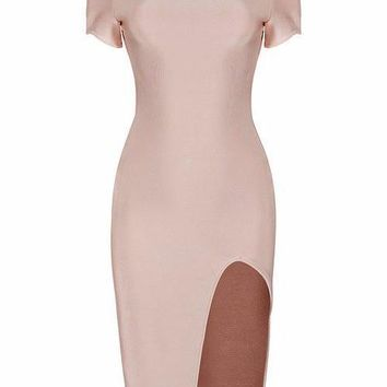 Lulu Lace Bandage Short Sleeve Dress