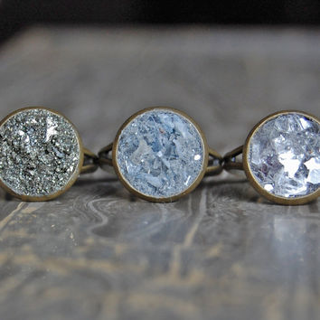 CRUSHED Druzy Crystal Ring