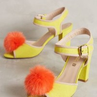 Cleo B Piped Pom Heels