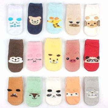 Cotton Boys Girls Socks Newborn Baby Socks Animal Floor Children's Socks Kids Leg Warmer Soft Baby Sock