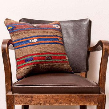 Turkish kilim Wool Camel Hair Pillow