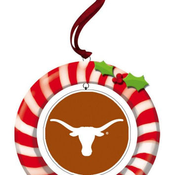 Texas Longhorns Clay Dough Wreath Ornament