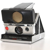 WORKING Vintage Polaroid Sx-70 Land Camera Black Sonar Focus | Tested Instant Film Photography Retro