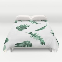 Tropical Twist Duvet Cover by Bay Theory