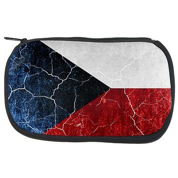 Czech Republic Flag Distressed Grunge Travel Bag