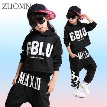2017 Fashion Children Jazz Dance Clothing Boys Girls Street Dance Hip Hop Dance Costumes Kids Performance Clothes Sets YL470