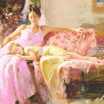 A Place In My Heart - Limited Edition Giclee on Paper by Pino Daeni (1939-2010)