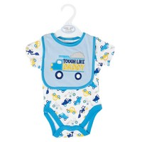 Tough Like Daddy Bodysuit w Bib 0 9m 371854670 | Clothing More | Cutie Pie Baby | Shop by Brand | Burlington Coat Factory