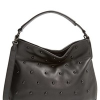 MARC BY MARC JACOBS 'New Q' Studded Pebbled Leather Hobo Bag
