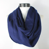 navy pashmina scarf,infinity scarf, scarf, scarves, long scarf, loop scarf, gift