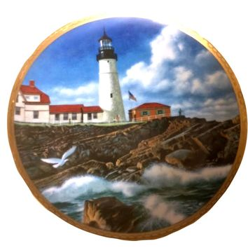 Vintage Portland Head Light from the American Lighthouse Plate Collection