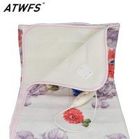 ATWFS 150*120cm Electric Blanket Electric Heated Blanket Double Bed Electric Carpet Body Warmer Heating Pad Warmer Thermostatic