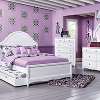 Gabriella Winter White 5 Pc Full Panel Bedroom
