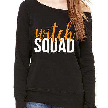 Witch Squad Halloween Off Shoulder Long Sleeve Sweater
