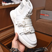PRADA Men Fashion white boots Casual vintage Sneakers Sport Shoes 2019 Best Quality