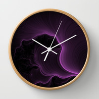 Ultra Violet Wall Clock by Eric Rasmussen