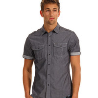 Marc Ecko Cut & Sew Chambray w/ Stripe Trim